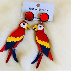 Jewelry - Tropical Macaw Bird Earrings